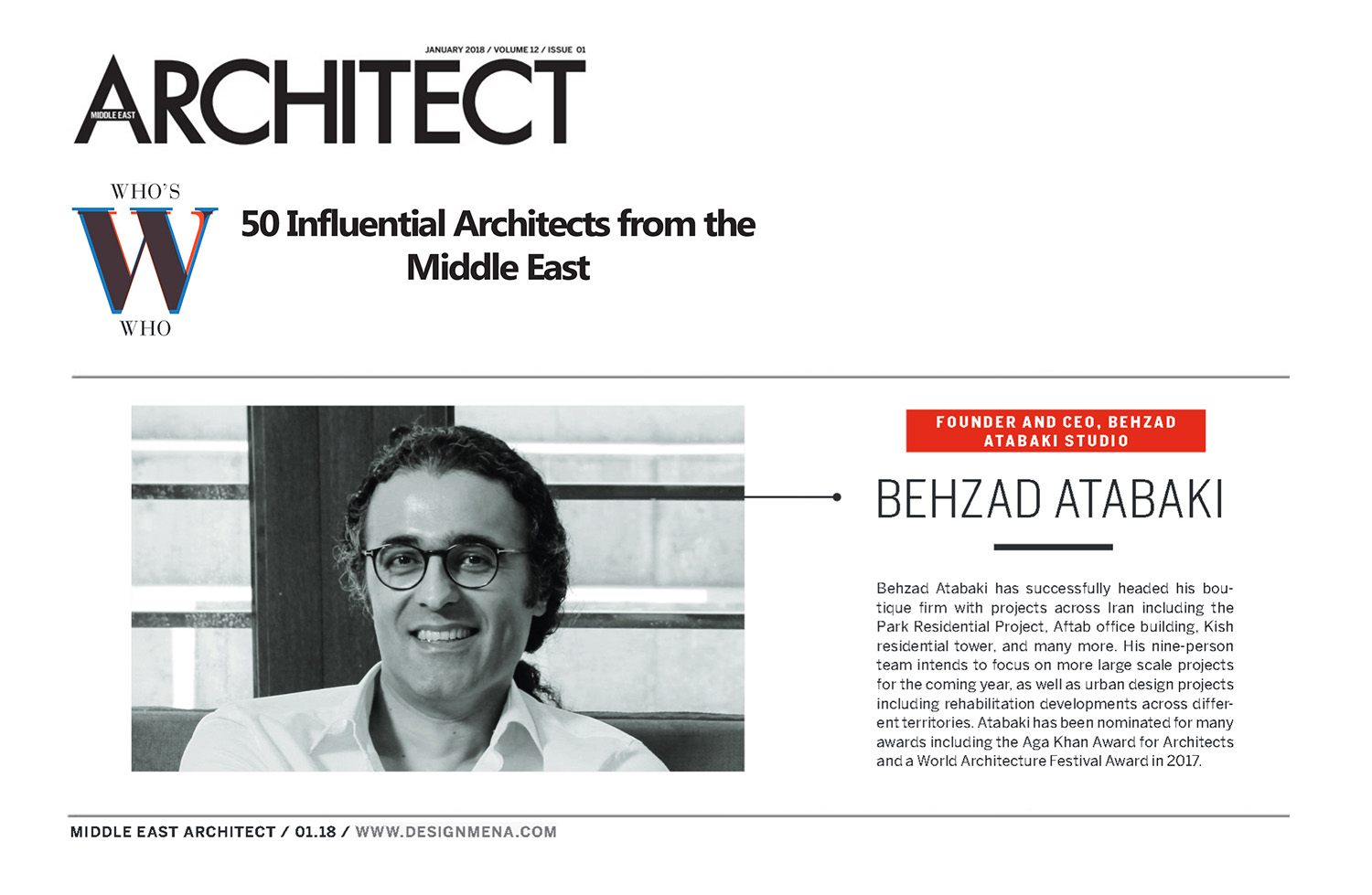 Middle East Architects 2018