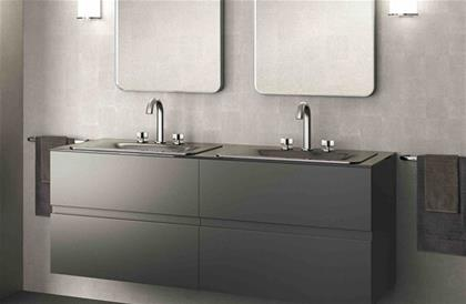 Furniture for 2 In-Countertop Washbasins