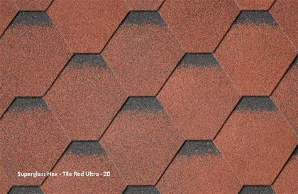 Superglass Hex Tile Red Ultra