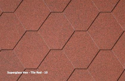 Superglass Hex Tile Red