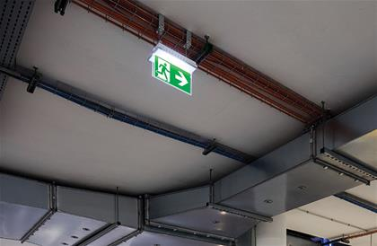 Outdoor Industrial Exit Sign