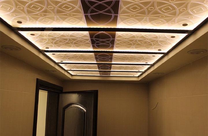 سقف کاذب شیشه ای iranArchitectsسقف کاذب آی گلس iGlass ceiling